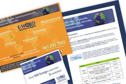 E-Word Translation - print hirdet�sek �s direct mail
